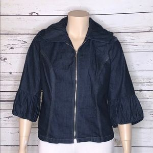 Venezia Lane Bryant 18 Ruffle Denim Jean Jacket